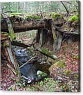 Abandoned Boston And Maine Railroad Timber Bridge - New Hampshire Usa Acrylic Print by Erin Paul Donovan