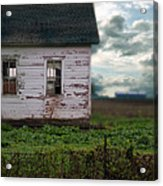 Abandoned Building In A Storm Acrylic Print