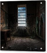 Abandoned Building - Old Room - Room With A Desk Acrylic Print