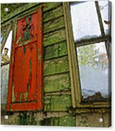Abandoned Cabin Elkmont - Coming Down Clover Acrylic Print