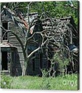 Abandoned Country Kansas Farm House Acrylic Print