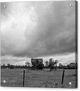 Abandoned Farmhouse Black And White Acrylic Print
