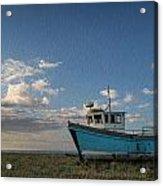 Abandoned Fishing Boat Digital Painting Acrylic Print