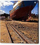 Abandoned Fishing Ship Acrylic Print