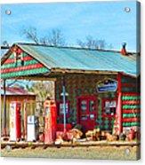 Abandoned Gas Station Acrylic Print
