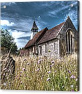 Abandoned Grave In The Churchyard Acrylic Print