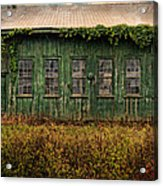 Abandoned Green Sugar Mill Building Dsc04353 Acrylic Print