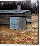 Abandoned Ice House Circa Late 1800.s Acrylic Print by Charlie Spear