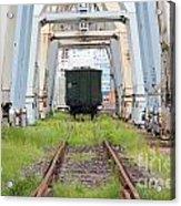Abandoned Industrial Dock Acrylic Print