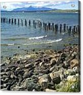 Abandoned Old Pier In Puerto Natales Chile Acrylic Print