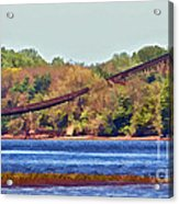 Abandoned On The Delaware River Acrylic Print