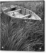 Abandoned Row Boat Along The Shoreline On Prince Edward Island Acrylic Print