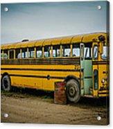 Abandoned School Bus Acrylic Print