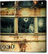Abandoned Train Car Acrylic Print