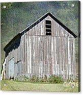 Abandoned Vintage Barn In Illinois Acrylic Print