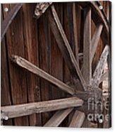 Abandoned Wagon Wheel Acrylic Print