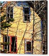 Abandoned Yellow House Acrylic Print