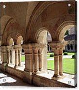 Abbey Fontenay - Cloister Vault  Acrylic Print