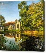 Abbey Lake Autumn Acrylic Print