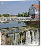 Abbey Mill And Weir Acrylic Print