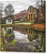 Abbey Reflection Acrylic Print