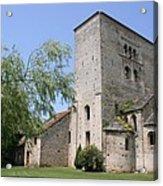 Abbey Ruin - Burgundy Acrylic Print