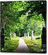 Abby Aldrich Rockefeller Path Statuary Acrylic Print