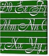 Abc 123 Green Acrylic Print