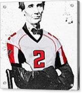 Abe Lincoln In A Matt Ryan Atlanta Falcons Jersey Acrylic Print
