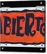 Abierto Acrylic Print