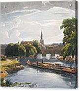 Abingdon Bridge And Church, Engraved Acrylic Print