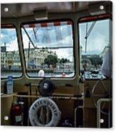 Aboard Friendship And Approaching The Boardwalk At Walt Disney World Acrylic Print