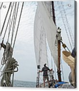 Aboard The Tyrone Opsail 2012  Acrylic Print