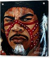 Aborigine Hunter Acrylic Print