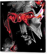 About Face Abstract Portrait Acrylic Print