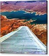 Above Lake Mead By Diana Sainz Acrylic Print