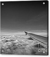 Above The Clouds Bw Acrylic Print