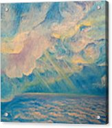 Above The Sun Splashed Clouds Acrylic Print