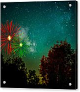 Above The Trees Below The Stars Celebration  Acrylic Print