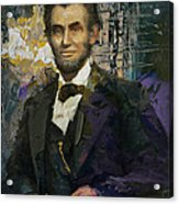 Abraham Lincoln 07 Acrylic Print by Corporate Art Task Force