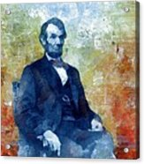 Abraham Lincoln 16th President Of The U.s.a. Acrylic Print