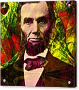 Abraham Lincoln 2014020502p28 Acrylic Print by Wingsdomain Art and Photography