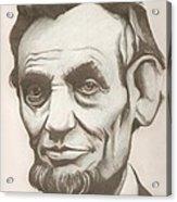 Abraham Lincoln Drawing Acrylic Print