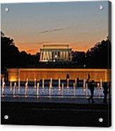 Abraham  Lincoln Memorial Sunset Acrylic Print