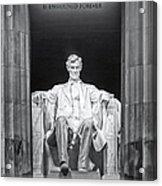 Abraham Lincoln Memorial Acrylic Print by Susan Candelario