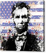 Abraham Lincoln Pop Art Splats Acrylic Print by Bekim Art