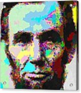 Abraham Lincoln Portrait - Abstract Acrylic Print