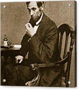 Abraham Lincoln Sitting At Desk Acrylic Print