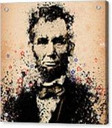 Abraham Lincoln Splats Color Acrylic Print