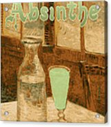 Absinthe Art Nouveau Advertisement Acrylic Print by